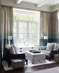 double curtain rod curtains living room transitional with coffered