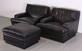 Ottoman Black Leather Black Leather Chair And Ottoman Modern Chairs Quality Interior 2017