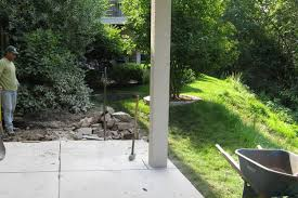 Backyard Renovations Before And After Landscape Design For A Steep Back Yard In Golden Valley Mn