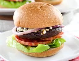 portobello mushroom blue cheese burgers eating rules