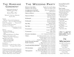 wedding reception program template wedding programs wedding program inside outside wedding ideas