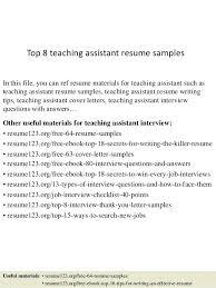 sample resume teacher assistant full image for sample teacher