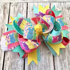 boutique hair bows buy easter bunny hair bow peeps hair bow easter boutique headband