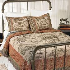 toile print coverlet horse themed gifts clothing jewelry and