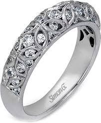 filigree wedding band simon g filigree diamond wedding band mr1523
