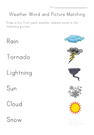weather worksheet matching english worksheets pinterest
