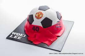 jake u0027s cakes manchester united soccer ball cake