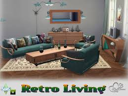 retro livingroom retro livingroom by buffsumm at tsr sims 4 updates
