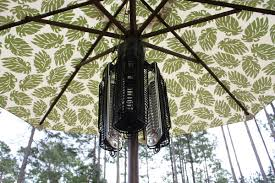 Parasol Electric Patio Heater Fire Sense Umbrella 1500 Watt Electric Hanging Patio Heater