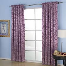Curtains One Panel Or Two Twopages Embossed Aspire Rod Pocket Blackout Thermal Curtain One