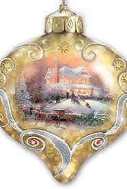 kinkade light up the season illuminated glass ornaments