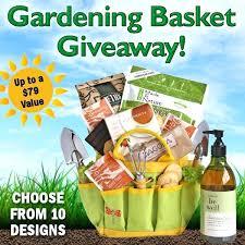 Gardening Basket Gift Ideas Gardening Gift Baskets Gardening Gift Giveaway Garden Themed Gift