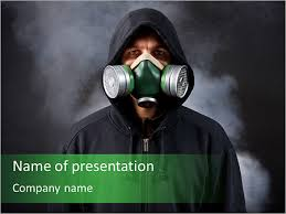 gas mask powerpoint template u0026 backgrounds id 0000006598