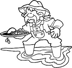 alaska gold rush coloring page wecoloringpage