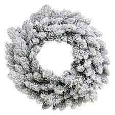 time decor 24 flocked wreath green walmart