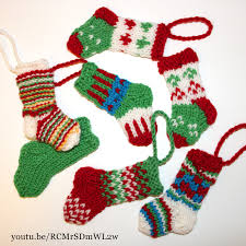 Christmas Stocking Tree Decoration Knitted Mini Christmas Stockings Knit U0026 Crochet Christmas