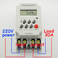 30amp mini 220v timer switch 7 days programmable 24hrs timer relay