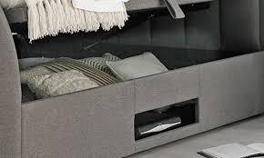 Ottoman Tv Bed 54 Off Ventura Grey Fabric Ottoman Tv Bed Groupon