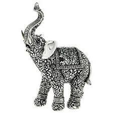 silver elephant statue beautifully detailed elephant ornament