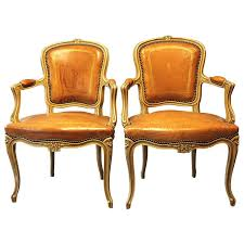 Tan Leather Chair Sale Pair Of French Tan Tooled Leather Fauteuil Chairs For Sale At 1stdibs