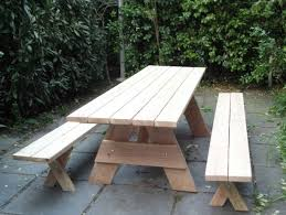 picnic table with separate benches gorgeous free picnic table plans with separate benches picnic tables