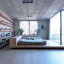 chambre idee idée de décoration chambre bois et béton