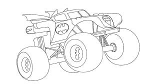 batman car drawing batman monster truck coloring learn colors with batman truck