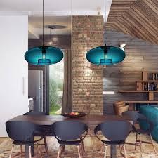 turquoise blue glass pendant lights luxury blue glass pendant light modern design bulb included dining