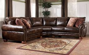 living room dark leather sectional sofa with chaise and brown