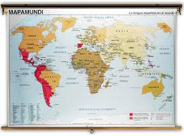 French Language Countries - spanish speaking countries of the world map physical at in