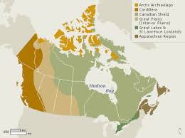 regions of canada map chan physiographic regions of canada glog