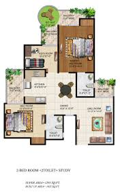 study room floor plan ajnara grand heritage floor plan