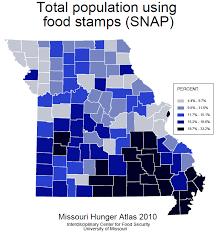 map of missouri food stamp usage 2010 maps pinterest map of missouri food stamp usage 2010