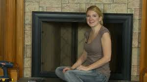 celebrity fireplace door how to install youtube