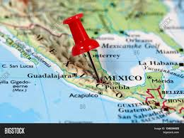 Map Of Cities In Mexico by Map With Pin Point Of Mexico City In Mexico Stock Photo U0026 Stock