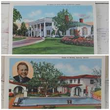 vintage 1950 homes of the movie stars fold out souvenir postcard