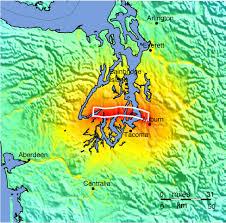 Seattle Topographic Map by Shakemapgeologicsummaries