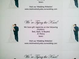 free wedding registry free printable wedding registry insert cards picture ideas