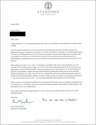 stanford acceptance letter real and official