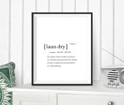 Etsy Laundry Room Decor by Laundry Definition Dictionary Word Laundry Print Instant