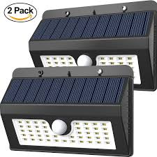 bright light solar magictec 45 led wireless solar motion security light pack of 2