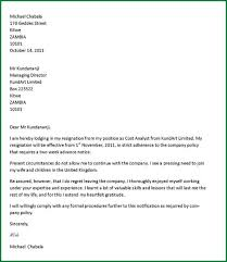 10 how to write a easy resignation letter applicationsformat info