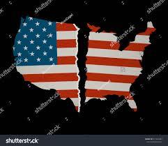 Design Of American Flag American Flag Map Torn Apart Divided Stock Vektorgrafik 571447402