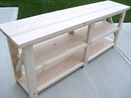 ana white console table wood console table plans console tables ideas