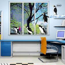 diving penguin wall decal sticker home decor kids room vinyl art