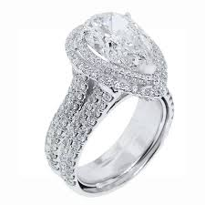 pear engagement ring 5 carat pear shape diamond ring for sale at 1stdibs