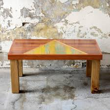 rustic oak coffee table reclaimed wood coffee table the chalet table geometric modern