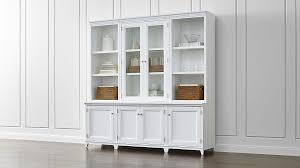 sideboards astounding white hutch with glass doors china hutch