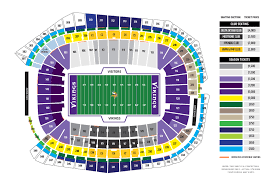 map us bank stadium minnesota vikings u s bank stadium map seating chart
