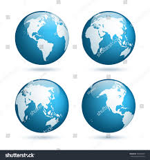 Earth Globe Map World by Earth Globe World Map Set Planet Stock Vector 599069249 Shutterstock